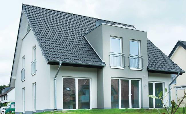 Typ modern art deltabau for Moderne fassadengestaltung einfamilienhaus